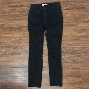 Madewell black petite roadtripper jeans